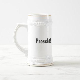 Proscht! Zwitserse het drink stenen bierkroes met Bierpul