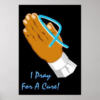 Prostate Voorlichting van Kanker die ik voor een V Poster