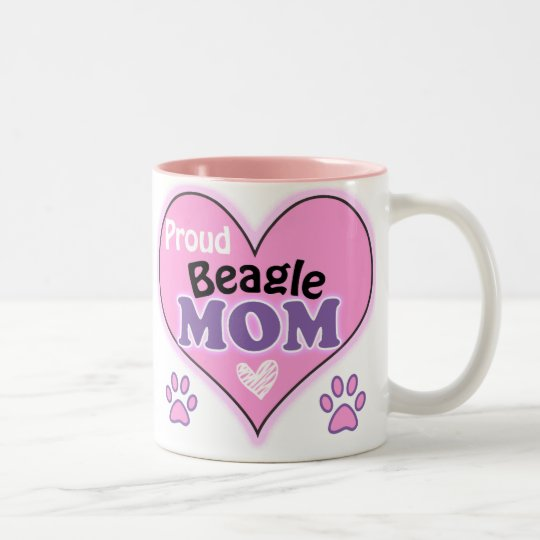Proud Beagle Mom Tweekleurige Koffiemok