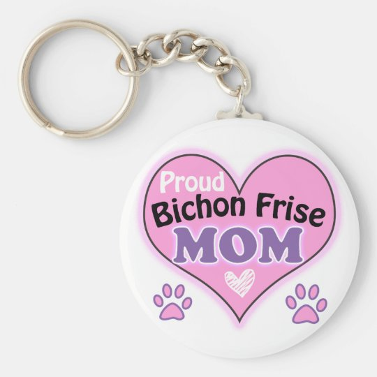 Proud Bichon Frise Mom Sleutelhanger