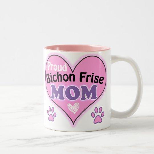 Proud Bichon Frise  Mom Tweekleurige Koffiemok
