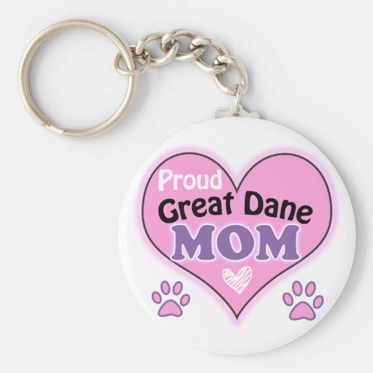 Proud Great Dane Mom Sleutelhanger