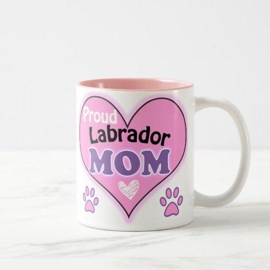 Proud Labrador Mom Tweekleurige Koffiemok
