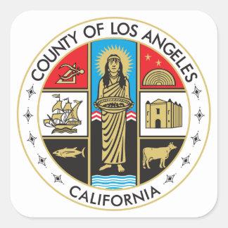 Provincie van Los Angeles Vierkante Sticker