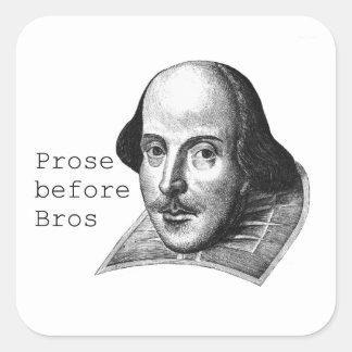 Proza vóór Sticker Bros