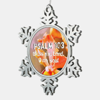 Psalm 103 Lof Lord, Mijn Ziel Tin Sneeuwvlok Ornament