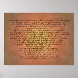 Psalm 91 het Vers van de Bijbel Poster