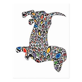 Psychedelisch-jachtluipaard-Doxie Briefkaart