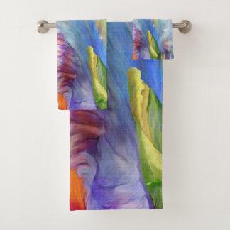 Psychedelisch kleurenschema bad handdoek