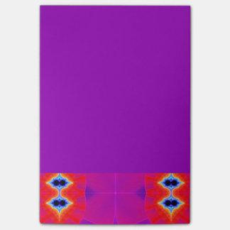 Psychedelisch Paars Oranje Kunstwerk Post-it® Notes