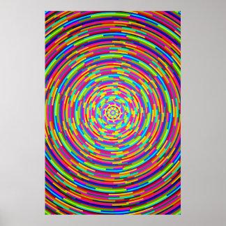 Psychedelische Bars Poster