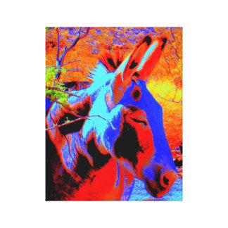 Psychedelische Ezel Canvas Print