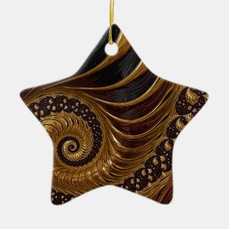 Psychedelische Fractal van de Chocolade Keramisch Ster Ornament