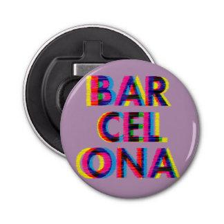 Psychedelische Glitch van Barcelona Klantgerichte Button Flesopener