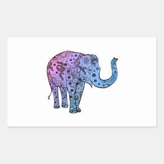 Psychedelische Groef Rechthoekige Sticker