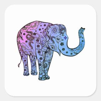 Psychedelische Groef Vierkante Sticker