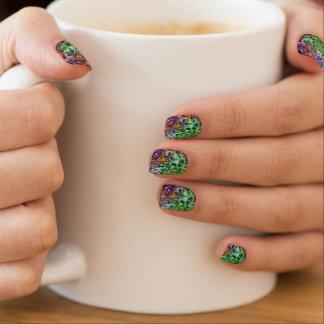 Psychedelische kleine kleurrijke kubussen minx nail folie
