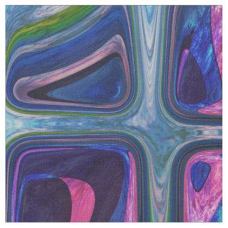 Psychedelische kleine kleurrijke kubussen stof