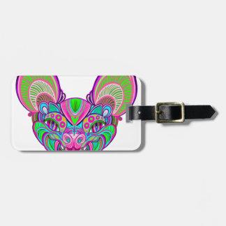 Psychedelische regenboogknuppel bagagelabel
