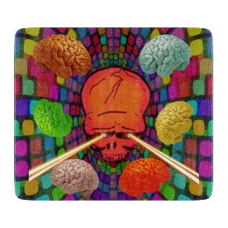 Psychedelische schedel snijplank