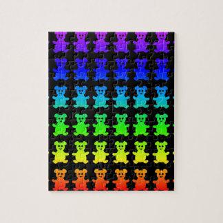 Psychedelische teddy beren puzzel