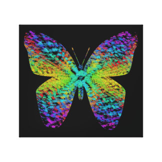 Psychedelische vlinder canvas afdruk