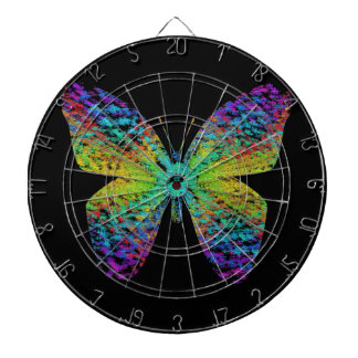 Psychedelische vlinder dartbord