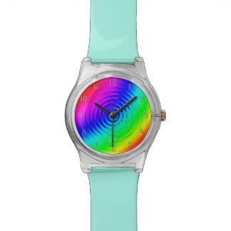 Psychedelische Vloeibare Regenboog I Horloge