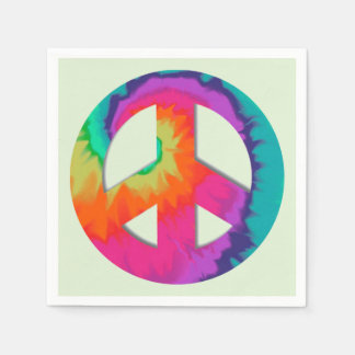 Psychedelische Vrede Papieren Servetten