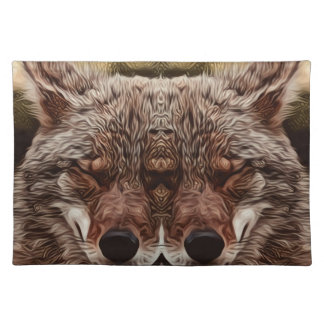 Psychedelische Wolf Placemat