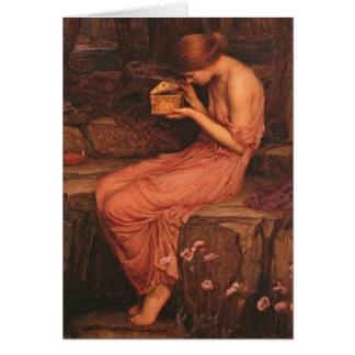 Psyches en Gouden Doos John William Waterhouse Kaart
