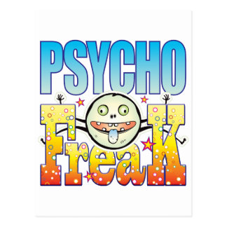 Psycho Buitenissige Freaky Briefkaart