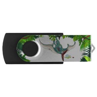 Pteranodon die een libel eten die een USB stick