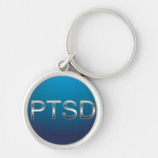 PTSD Keychain Zilverkleurige Ronde Sleutelhanger