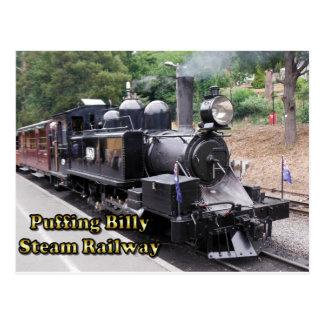 Puffende Billy Historic Steam Train in Australië Briefkaart