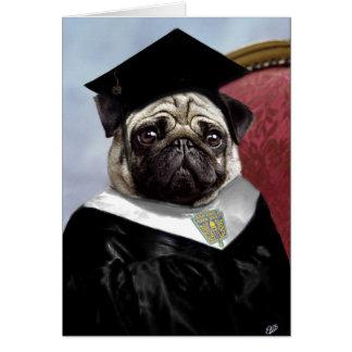 Pug afstuderenkaart wenskaart