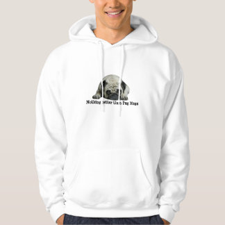 Pug Clown bij het Unisex-Sweatshirt Met een kap Hoodie