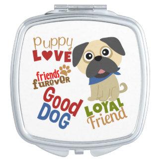 Pug de Beste Vriend van de Hond Makeup Spiegel