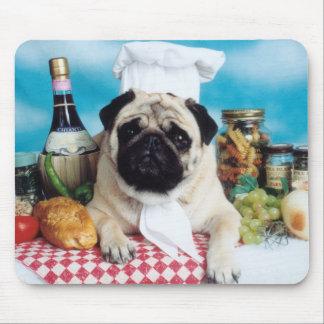 Pug de Chef-kok Mousepad van de Hond Muismat