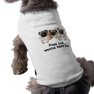 Pug de Kleding van het Huisdier Mouwloos Hondenshirt
