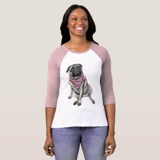 Pug de T-shirt van de Vrouwen van het Afbeelding