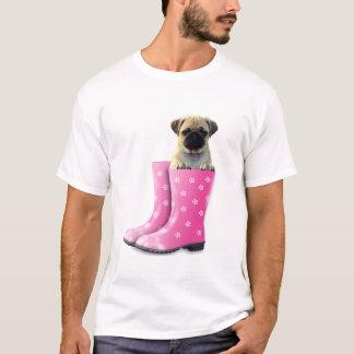 Pug de T-shirt van het Mannen van het Afbeelding