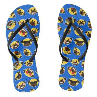 Pug Emoticons Emojis Sandals Teenslippers