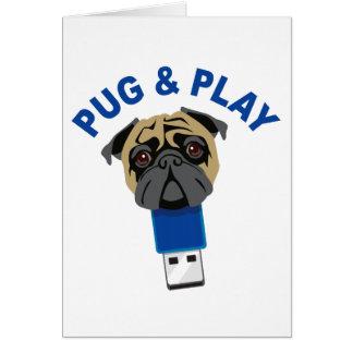 Pug en Spel Wenskaart