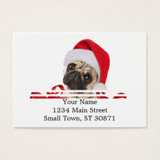 Pug giften - hond Claus - grappige pugs - grappige Visitekaartjes