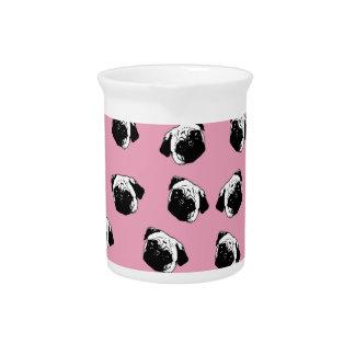 Pug hondpatroon drink pitcher