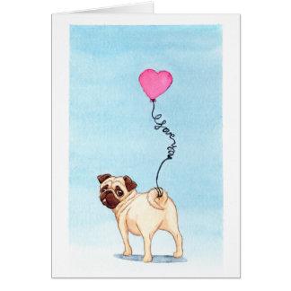 pug liefde briefkaarten 0