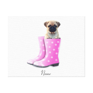 Pug Puppy Canvas Prints