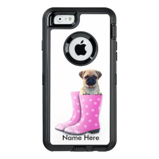 Pug Puppy OtterBox Defender iPhone Hoesje