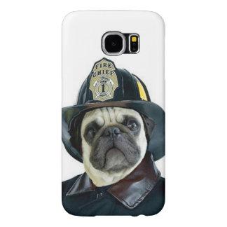 Pug van de brandweerman het hoesje van hondSamsung